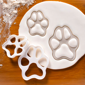 Set of 2 Realistic Dog Paw Cookie Cutters