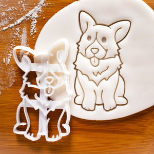 happy corgi cookie cutter