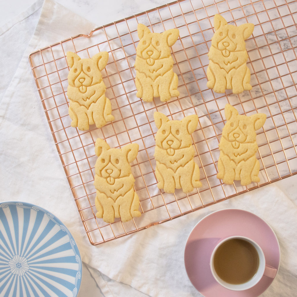 happy corgi cookies