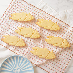 sleepy corgi cookies