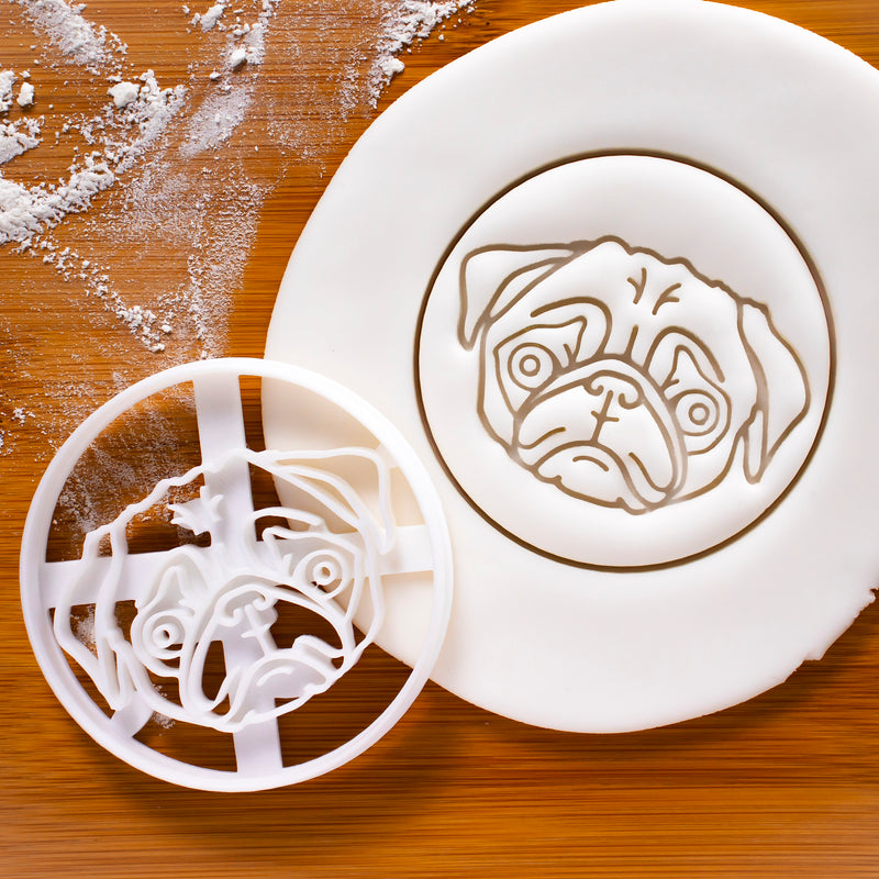 pug face cookie cutter