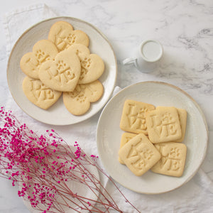 Philly LOVE with Paw Print Cookies (Heart and Square)