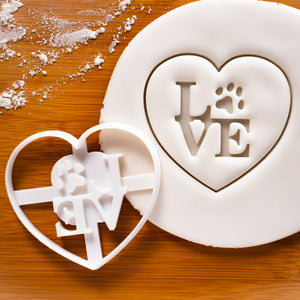 Philly LOVE with Paw Print Cookie Cutter (Heart)