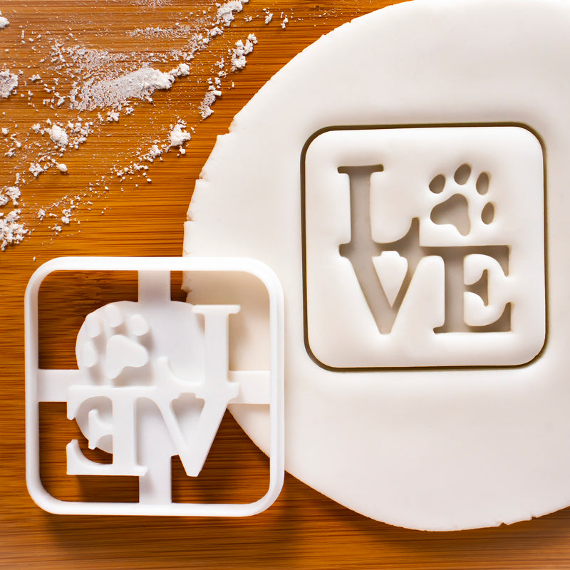 Philly LOVE with Paw Print Cookie Cutter (Square)