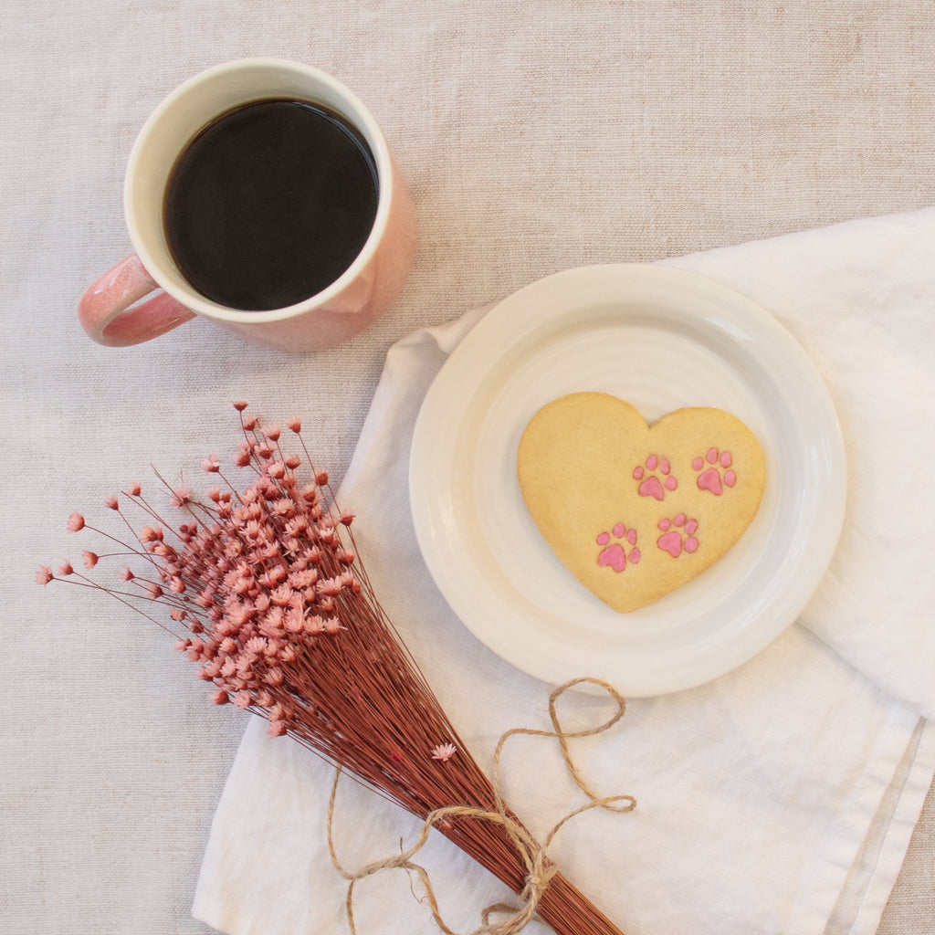 heart paw prints cookies