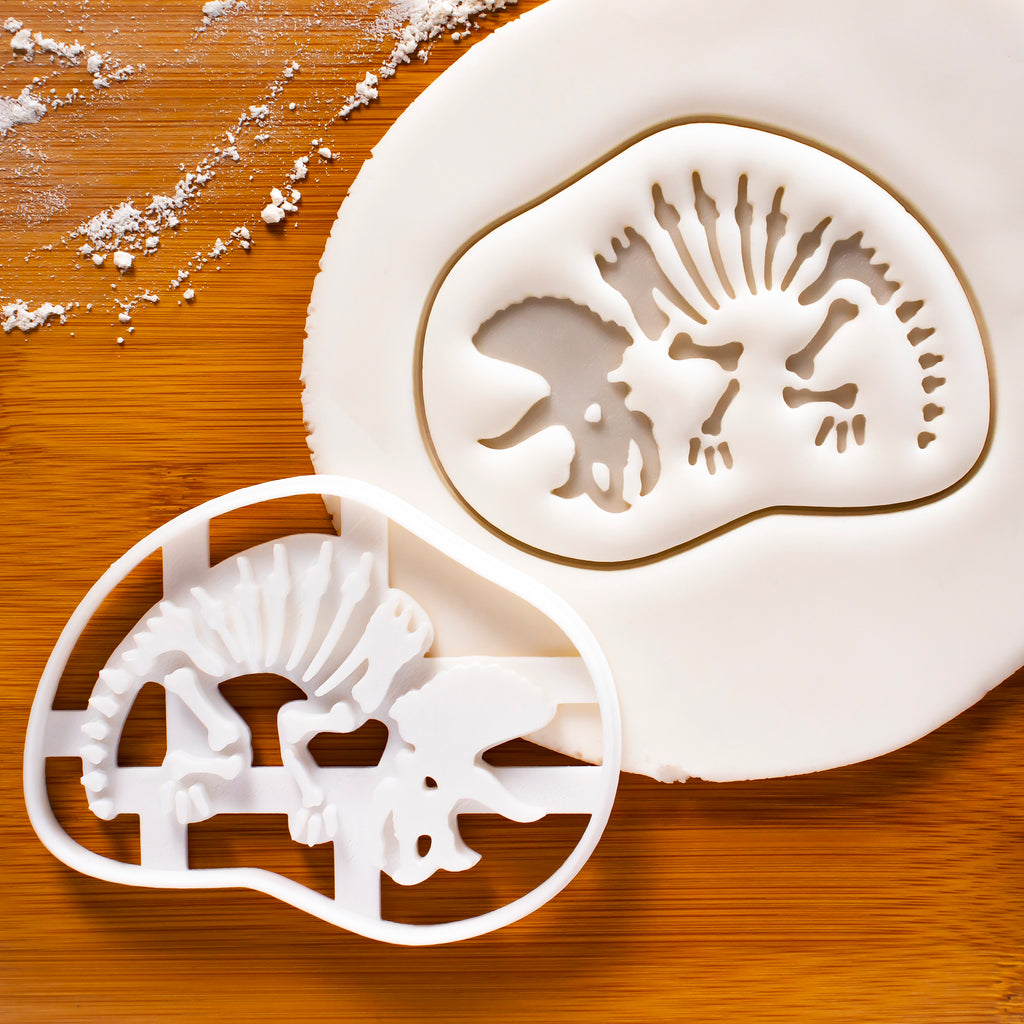 Triceratops Dinosaur Fossil Cookie Cutter