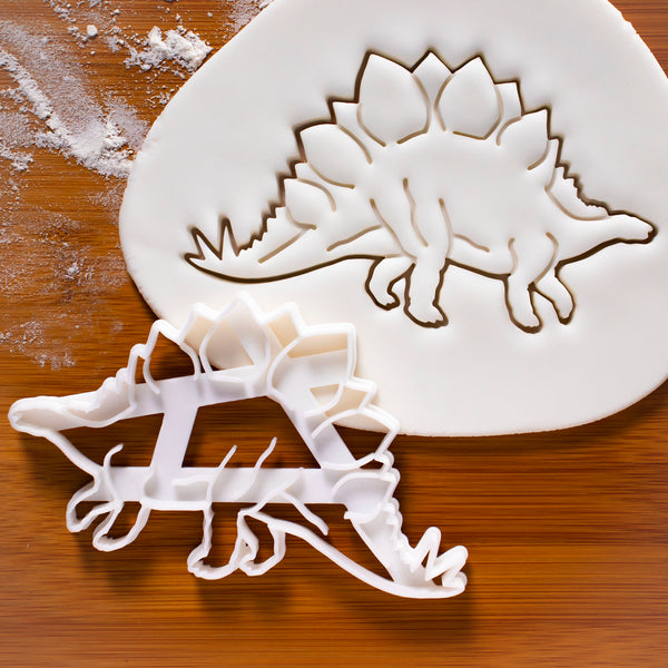 Realistic Stegosaurus cookie cutter