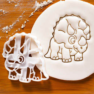 baby triceratops dinosaur cookie cutter