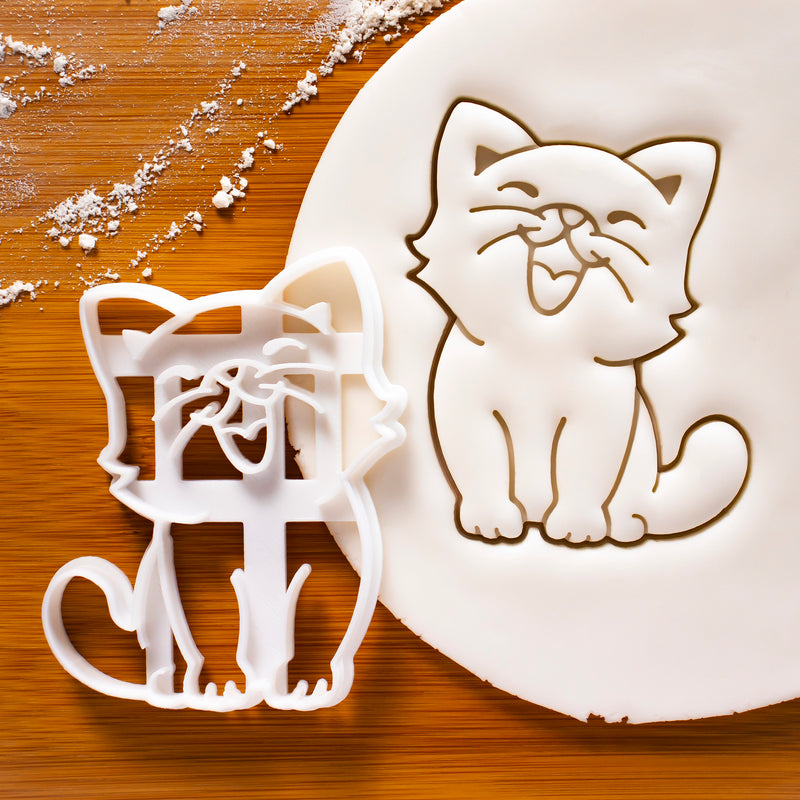 Happy Cat Cookie Cutter