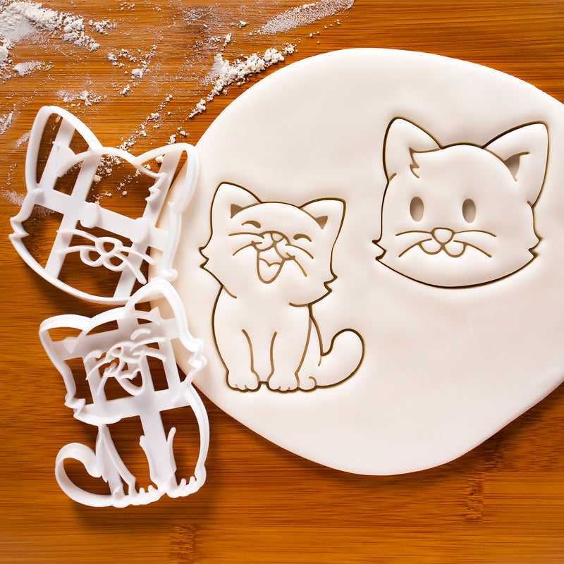 Cat and Cat's Face Cookie Cutters