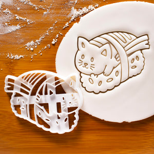 sushi cat cookie cutter