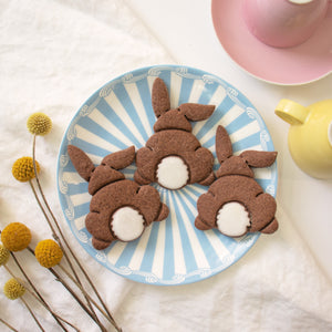 easter bunny butt cookies