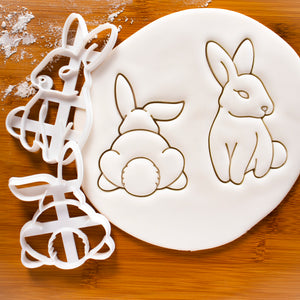 Set of 2 Cookie Cutters: Bunny and Bunny's Butt