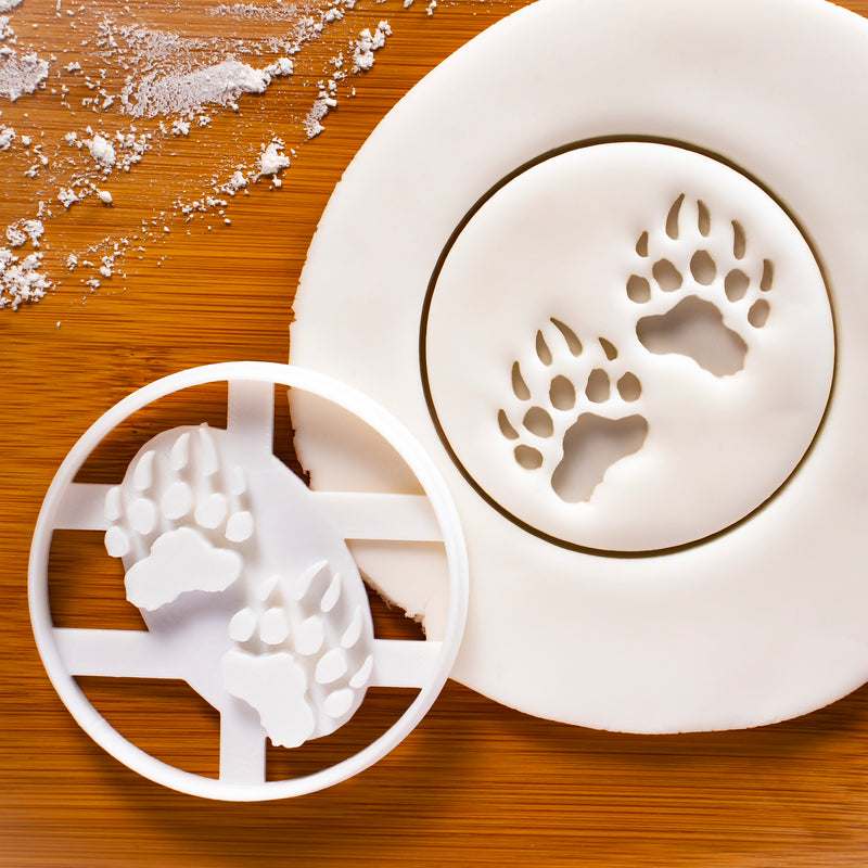 Bear Paw prints cookie cutter