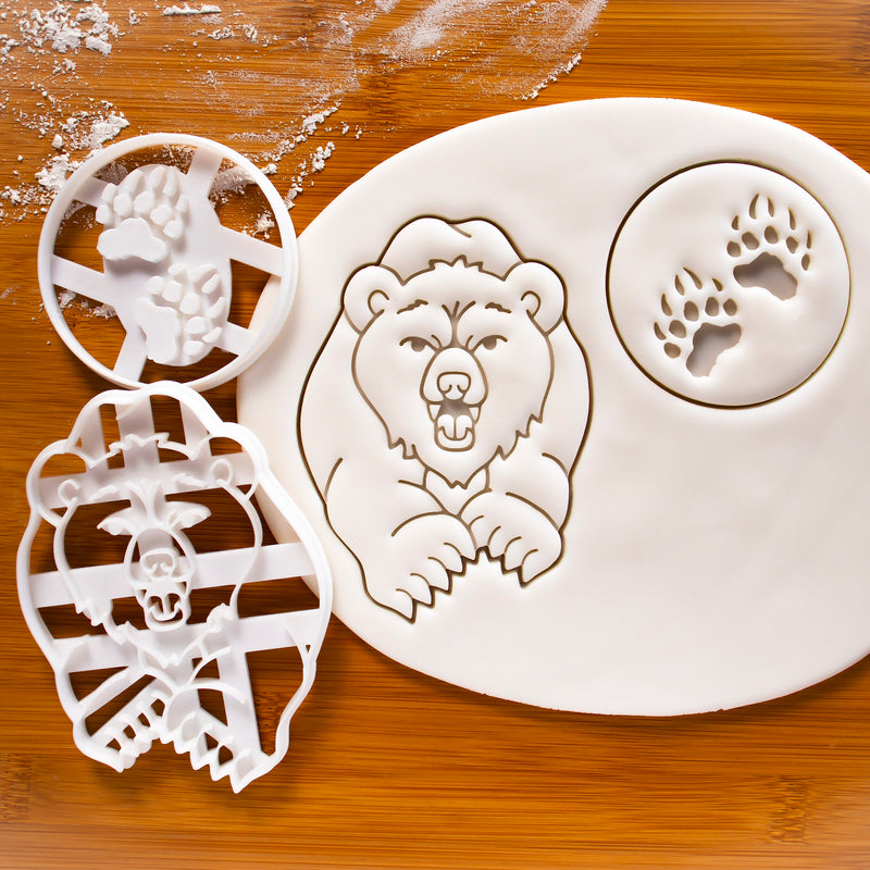 Bear & Paw Prints Cookie Cutters