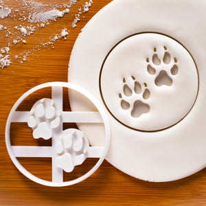 Wolf Paw Prints Cookie Cutter
