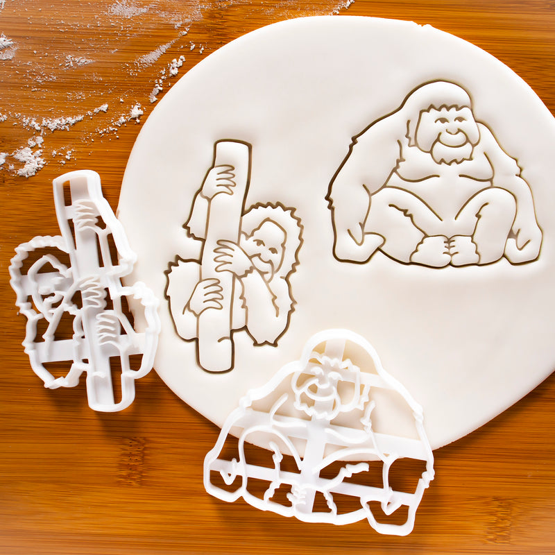 Set of 2 Baby and Adult Orangutan cookie cutters