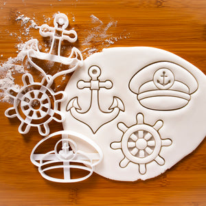Anchor, Ship Wheel & Captain Hat Cookie Cutters