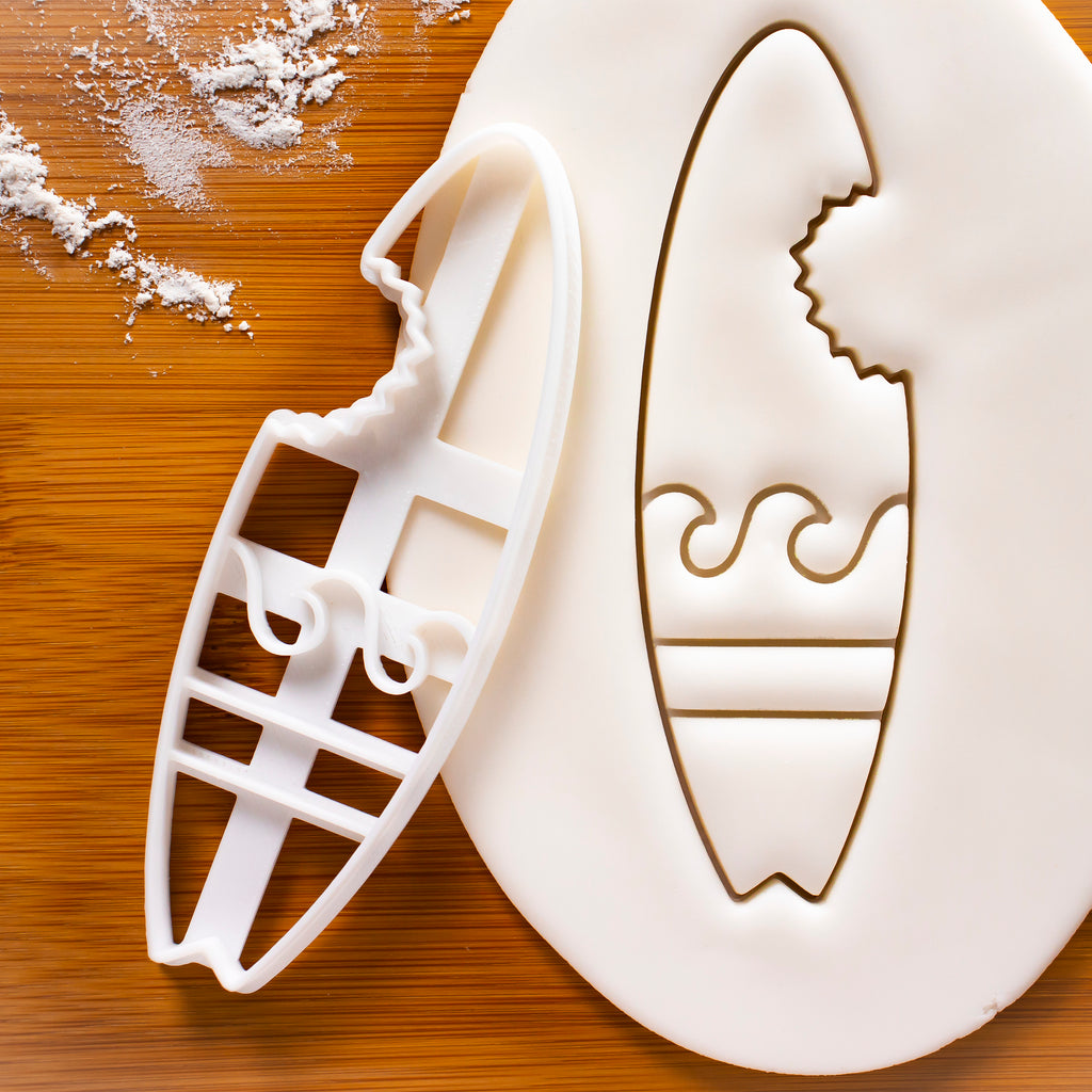 Bitten Surfboard Cookie Cutter