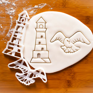 Seagull and Lighthouse Cookie Cutters