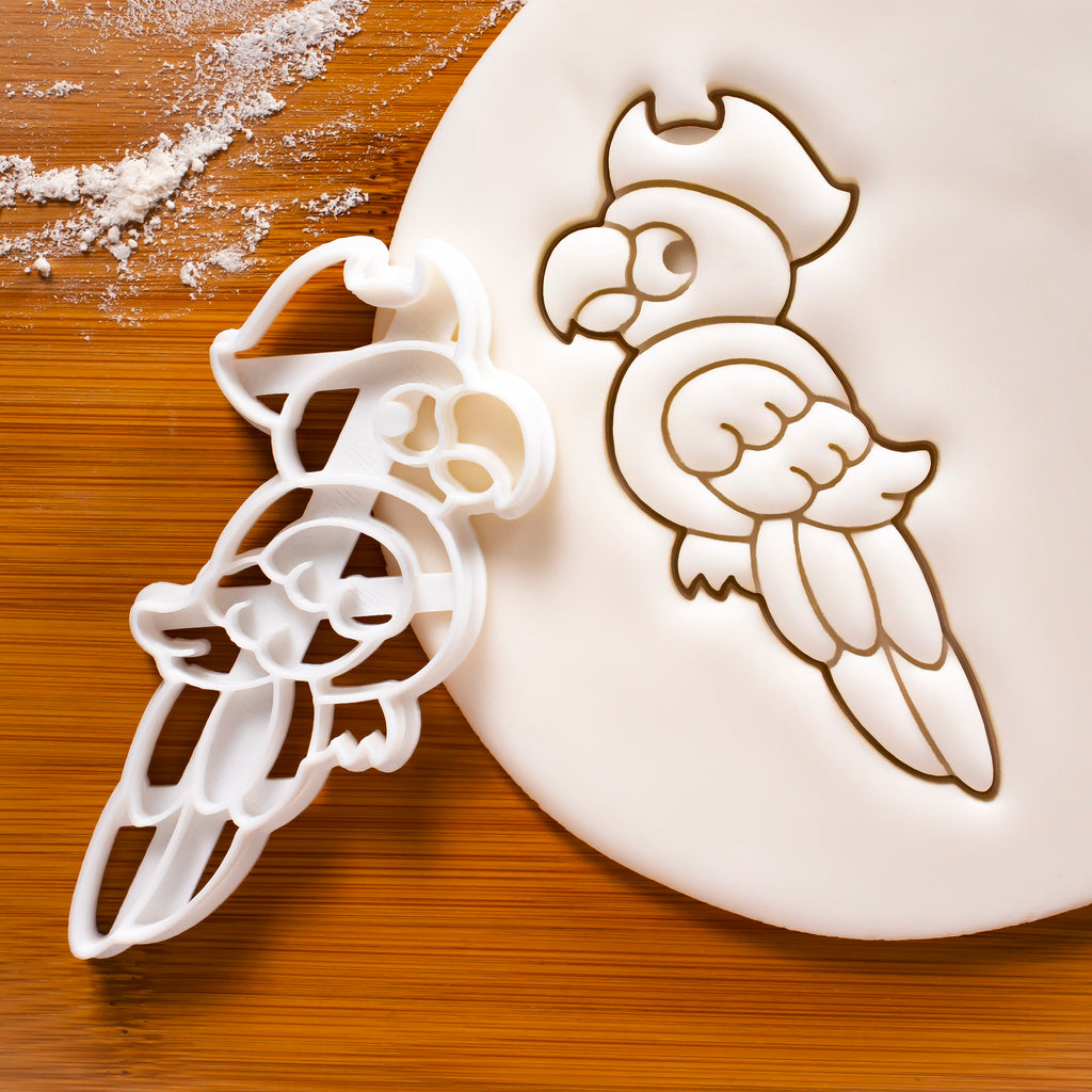 Pirate Parrot cookie cutter
