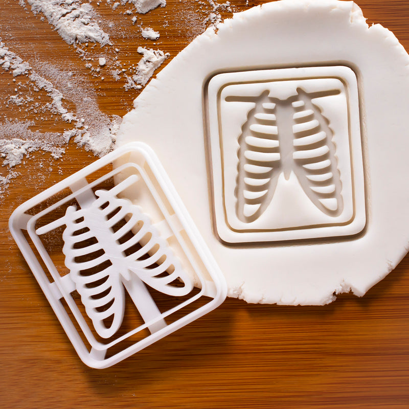 Chest X-Ray Cookie filled with caramel icing