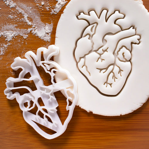 anatomical heart cookie cutter