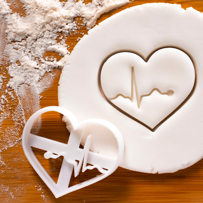 Set of 2 ECG cookie cutters
