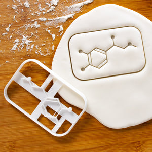 adrenaline molecule cookie cutter pressed on fondant