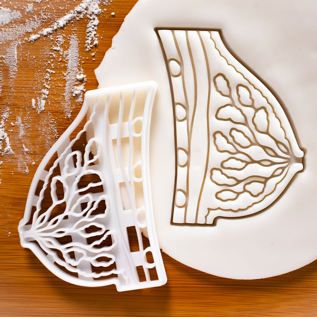 Breast Tissue Anatomy cookie cutter