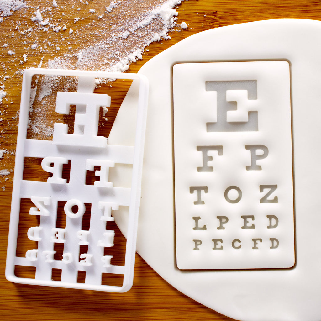Snellen Chart Cookie Cutter