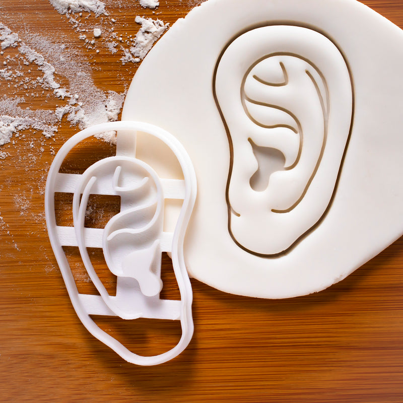 Human outer ear cookie cutter