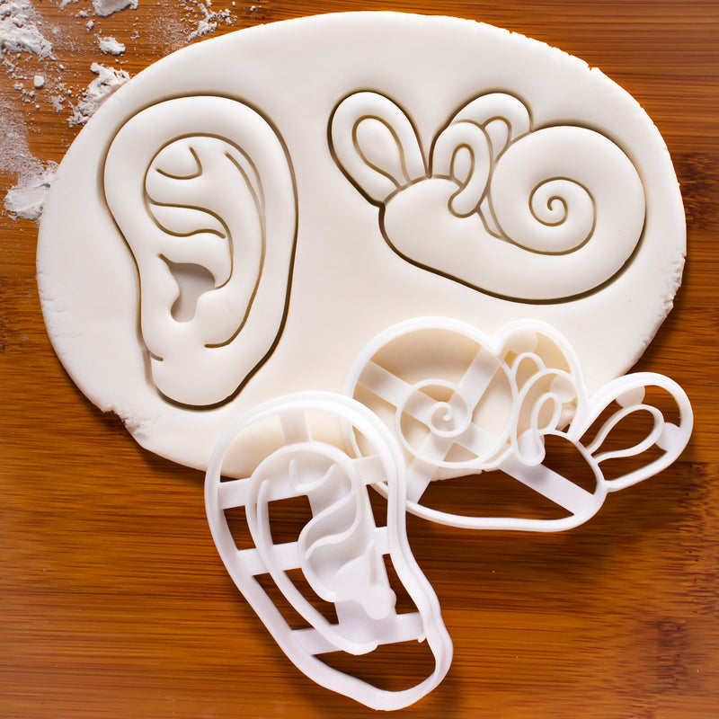 set of 2 human ear cookie cutters