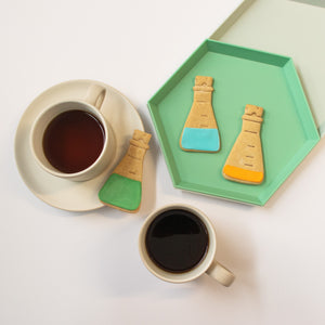 laboratory science conical flask cookies