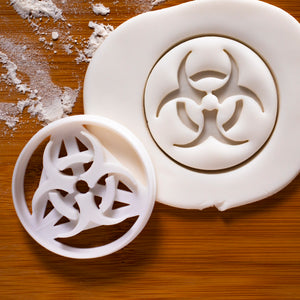 biohazard symbol cookie cutter