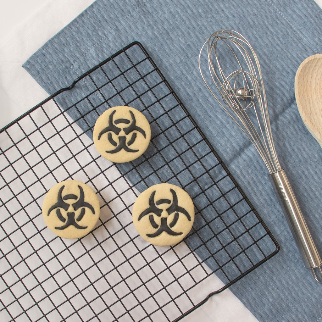 science biohazard symbol cookies