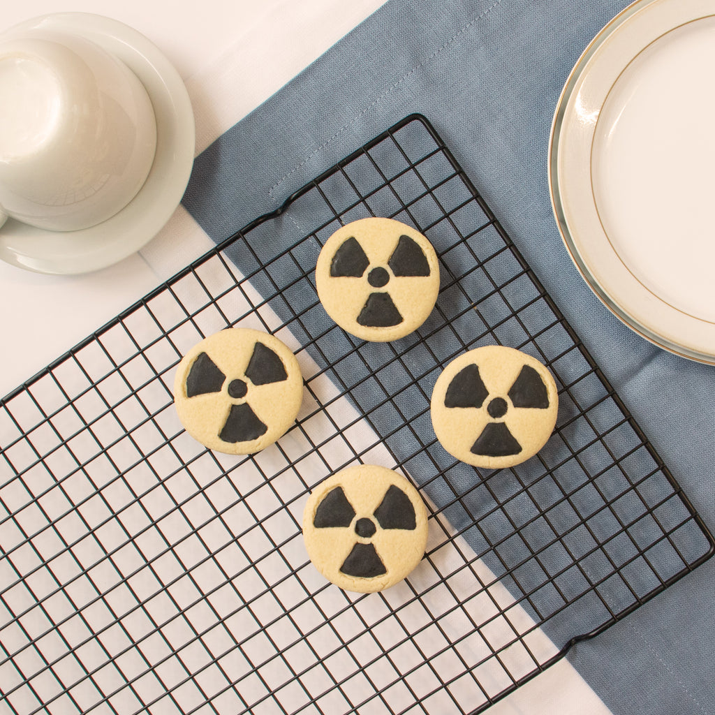 science radiation symbol cookies