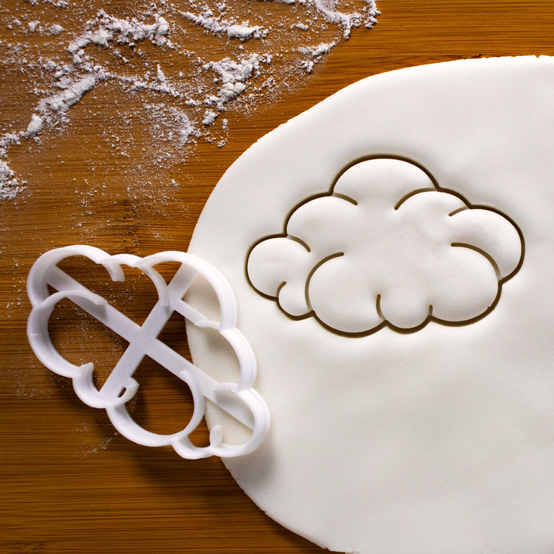 Fluffy Cloud Cookie Cutter pressed on fondant