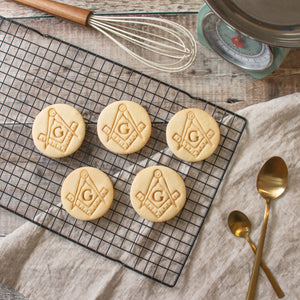 masonic square and compasses cookies