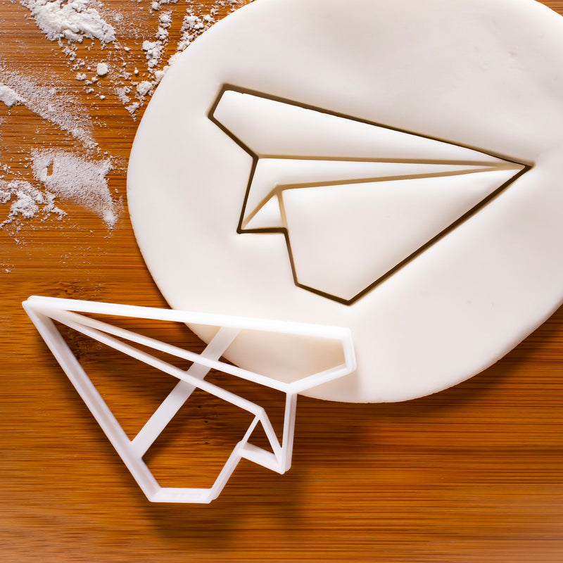 origami plane cookie cutter
