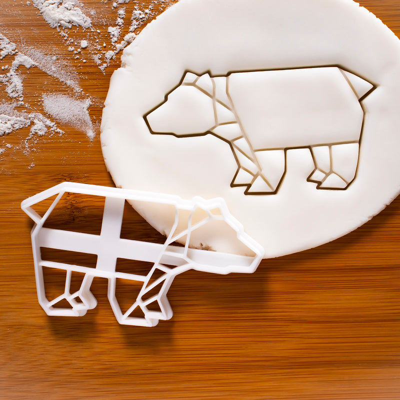 origami bear cookie cutter