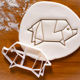origami pig cookie cutter
