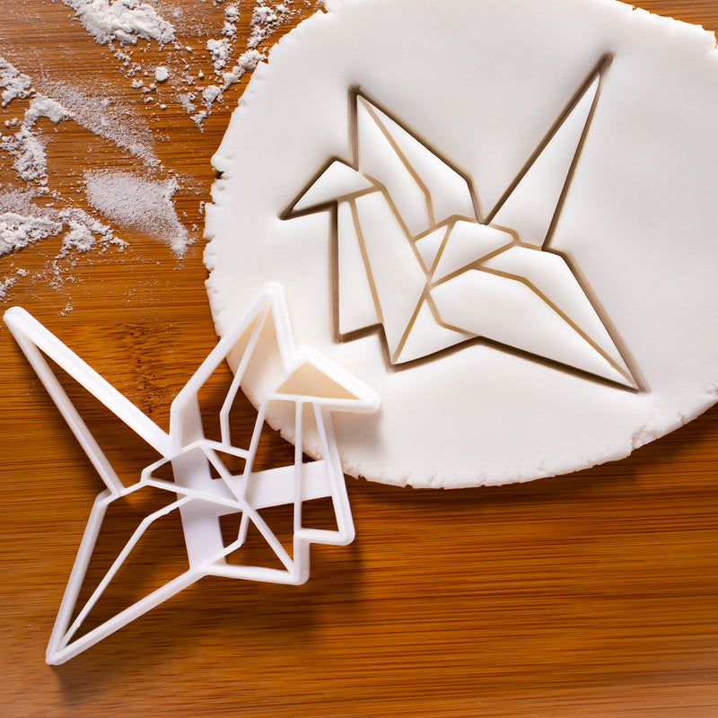 origami crane cookie cutter