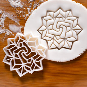 origami flower cookie cutter