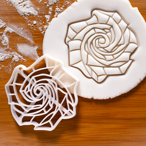 origami rose cookie cutter