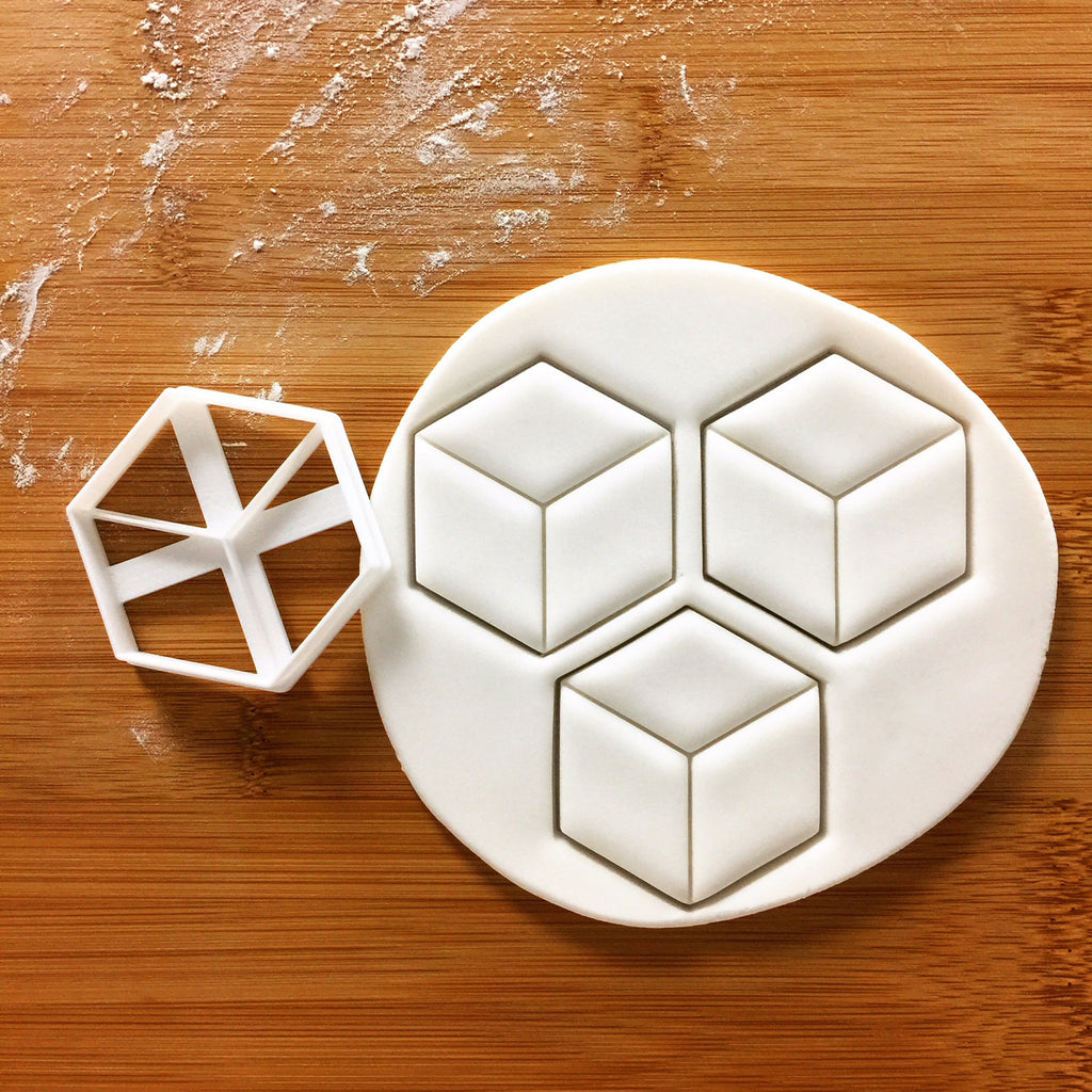 Hexagon Cuboid Cookie Cutter