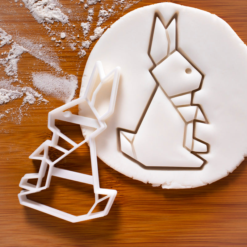 origami rabbit cookie cutter