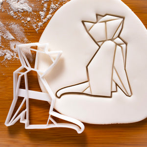 origami cat cookie cutter