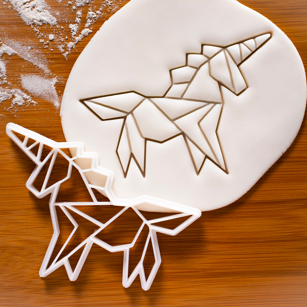 origami unicorn cookie cutter