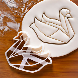 origami swan cookie cutter